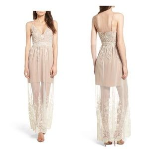 WAYF illusion maxi dress
